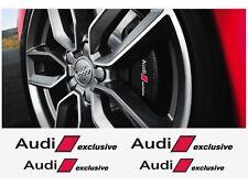4x Audi exclusive Aufkleber für Bremssättel  Emblem Logo