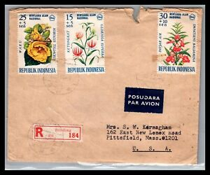 GP GOLDPATH: INDONESIA COVER 1966 REGISTERED LETTER AIR MAIL _CV750_P07