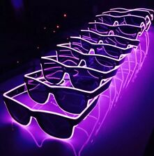 10 x Pairs Of Pink Neon Sunglasses Hen Do Party Cool Funky Shades LED Light Up
