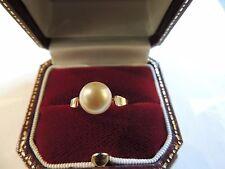 Bague or jaune 18 carats avec une belle perle de culture