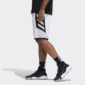 Adidas Pro Madness (Men's Size L) Athletic Basketball Shorts White Training