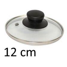 PETIT COUVERCLE DE CASSEROLE 12 CM VERRE INOX USTENSILE CUISINE