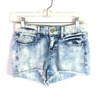 Decree Women's Blue Jean Shorts Size 3 Cut-Offs Acid-Washed Shortie *B1