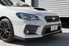 STI V2 Style PU Front Lip For MY18 Subaru WRX / STI Facelift (UNPAINTED)
