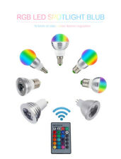 LED Bulb 16 color Dimmable RGB E27 E14 MR16 GU10  AC110V 220V +IR Remote Control