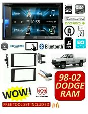 98-02 DODGE RAM CAR STEREO COMBO, BLUETOOTH TOUCHSCREEN DVD AUX MP3