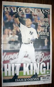 New York Daily News, Sept 12, 2009 - Jeter Breaks Gehrig Record - Complete Paper