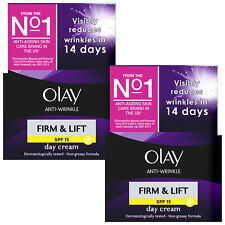 2x Olay Anti-wrinkle Firm & Lift SPF 15 Day Cream 50ml