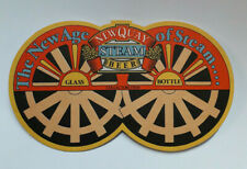 """NEWQUAY STEAM BEER VINTAGE BEER MAT """"THE NEW AGE OF STEAM"""" Excellent Condition"""