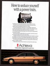 1993 OLDSMOBILE Achieva Vintage Original Print AD 4-door car photo Engine canada