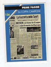 figurina card - CALCIATORI INTER MASTER CARDS  - numero 126 2A COPPA CAMPIONI