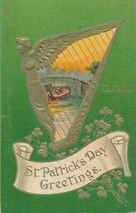 ST. PATRICK'S DAY - Third Lock On the Lagan Belfast Postcard