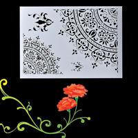 DIY Wall Painting Scrapbooking Stamping Craft Mandala Stencils Template Tools