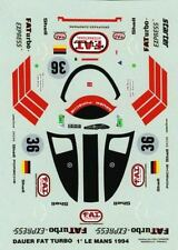 PORSCHE 962 DAUER  N°36 FAT TURBO  WINNER LE MANS 1994  DECALS 1/43