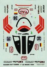 PORSCHE 962 DAUER  N°36 FAT TURBO  WINNER LE MANS 1994  DECALS 1/43