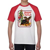 Mommy can we keep him Cerberus Funny T-shirt Men Ringer Cotton Short Sleeve Top