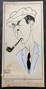 1925 Original Illustration Art R.G. Quigley Actor Percy Marmont