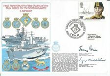 More details for military, commemorative cover, sailing of task force to south atlantic, 1983