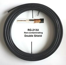 Non-contaminating Coax Cable Low Loss Double Shield RG213U RG8/U by foot BR213DS