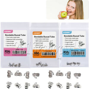 Orthodontic Bondable Buccal Tubes 1st Molar Edgewise/ MBT/ ROTH 022 Convertible