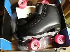 Sure-Grip Fame Artistic International Roller Skates Black/Pink Size 9