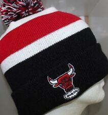 NBA Chicago Bulls BREAKAWAY KNIT Cap Beanie Hat with Pom - Black