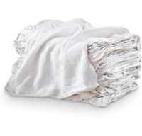 100 ShopTowels 14x14 Commercial Grade Cleaning Towels Heavy Cotton Rags 3Colors
