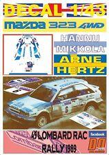 DECAL 1/43 MAZDA 323 4WD H.MIKKOLA RAC R. 1989 9th (01)