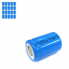 20 pcs 4/5 Sub C SC 1600mAh 1.2V Ni-Cd rechargeable Battery Cell Flat Top Blue