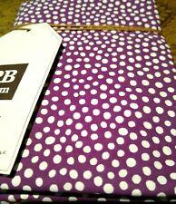 Pottery Barn Dorm Mini Dot Standard Sham Plum / Purple + White  26 x 20 NWT