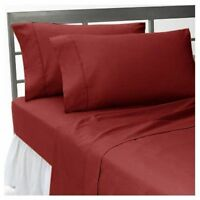 All Bedding Items US Sizes 1000 Thread Count Home Egyptian Cotton Burgundy Solid