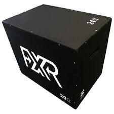 FXR SPORTS BLACK WOODEN WOOD PLYO MMA PLYOMETRIC JUMP BOX CROSSFIT -3 HEIGHTS