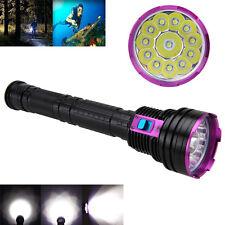 Underwater 100m 30000LM 12x XM-T6 LED Scuba Diving Flashlight 18650/26650 Torch