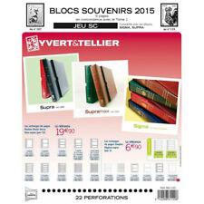 Jeux SC France blocs souvenirs 2015 avec pochettes de protection.