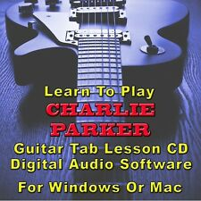 Charlie Parker Guitar Tab Lesson Cd Software - 13 Songs