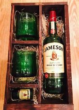 Jameson Whiskey Up-Cycled Glasses & Gift Box - Full Bottle Not Included