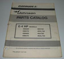 Bücher Automobilia Parts Catalog Evinrude Johnson 25 Hp Commercial Models Ersatzteilkatalog 1978!
