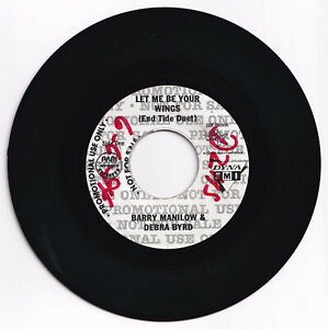 Philippines BARRY MANILOW & DEBRA BYRD Let Me Be Your Wings 45 rpm PROMO Record