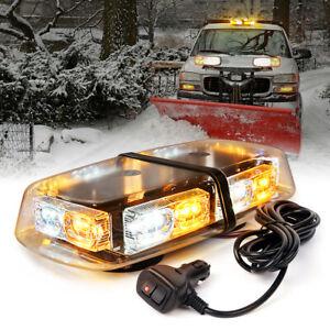 Xprite Amber White Mix LED Strobe Lights for Trucks Safety Warning 16 Flash Mode