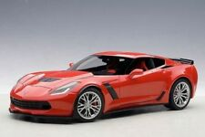 1/18 Autoart CHEVROLET CORVETTE C7 Z06 ( TORCH RED / argent JANTES) 2014