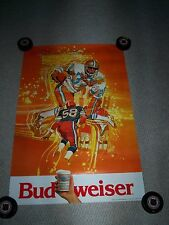 Budweiser Beer football poster