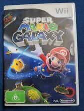 Super Mario Galaxy (Wii, 2007) PAL Complete Like New Case Original Wii U Manual