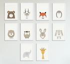 Peekaboo Animal Prints for Nursery Prints Set Baby Christening Bedroom Decor A5