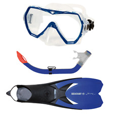 Beuchat Jetta Explorer Set Adult Mask, Purge Snorkel & Fins Set UK 7.5 - 9.5