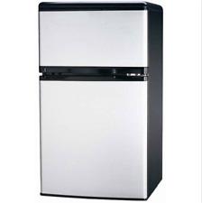 Igloo FR834 3.2 CU Ft Fridge 2-Door, Platinum Compact  Freezer