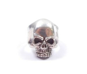Vintage Mexican Skull Ring Sterling Silver Heavy