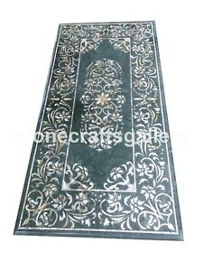 7'x4' Marble Counter Table Top Mother of Pearl Floral Inlay Hallway Decors B081