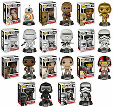Star Wars VII Force Awakens Funko Pop 11 Figure Set BB-8 Finn Rey C3PO Kylo Ren