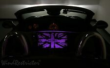 WindRestrictor ® Mini Cooper Roadster LED lighted custom etched deflector purple