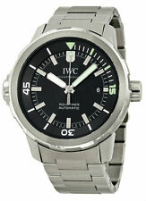 IWC IW329002 Aquatimer Swiss Automatic Date Black Dial Men Steel Watch New Orig
